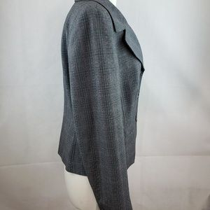 Caslon Jackets & Coats - 🔵5/$50🔵 Caslon Plaid Blazer Womens Size 12 Gray